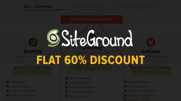 SiteGround Coupon Code: Flat 60% Discount